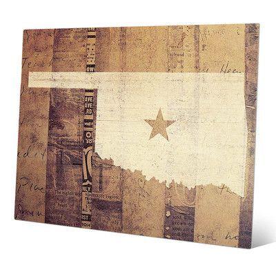 "Click Wall Art 'Oklahoma Rustic' Graphic Art Size: 20"" H x 24"" W x 0.04"" D"