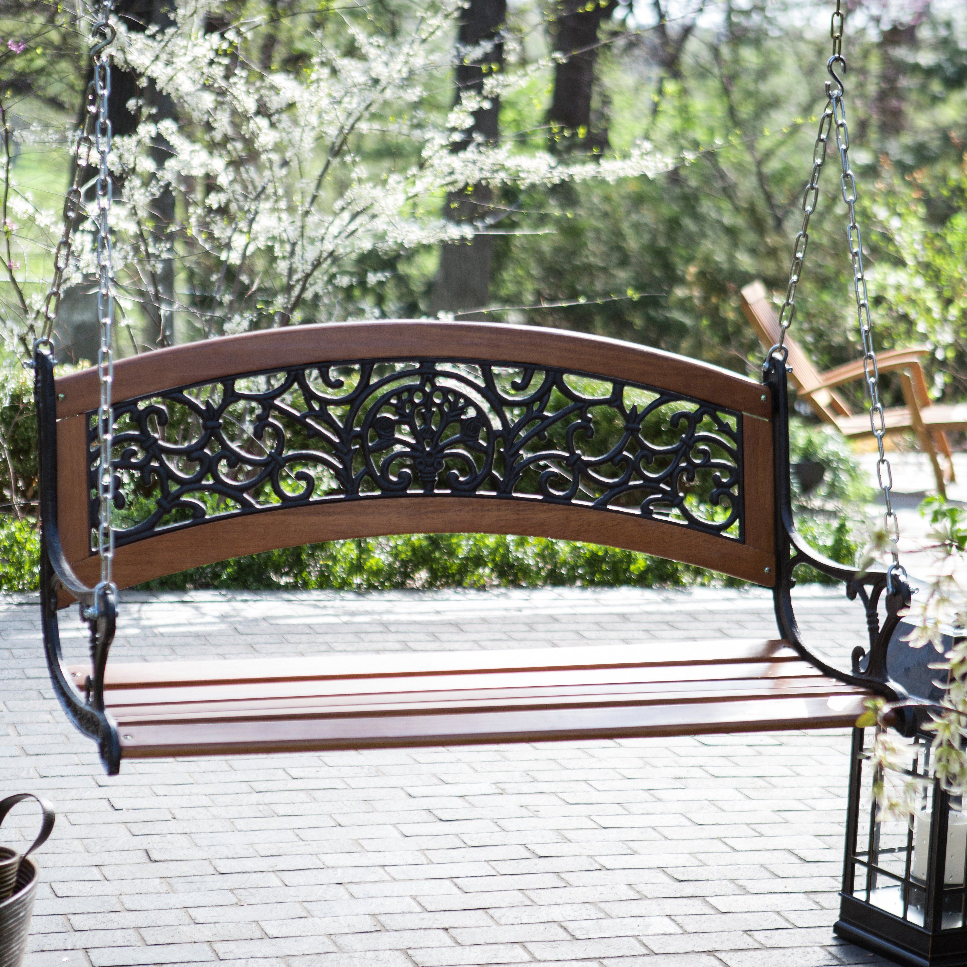 Have to have it coral coast elegant curved back ft porch swing