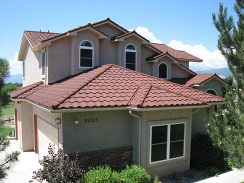 metal roof spanish tile roof