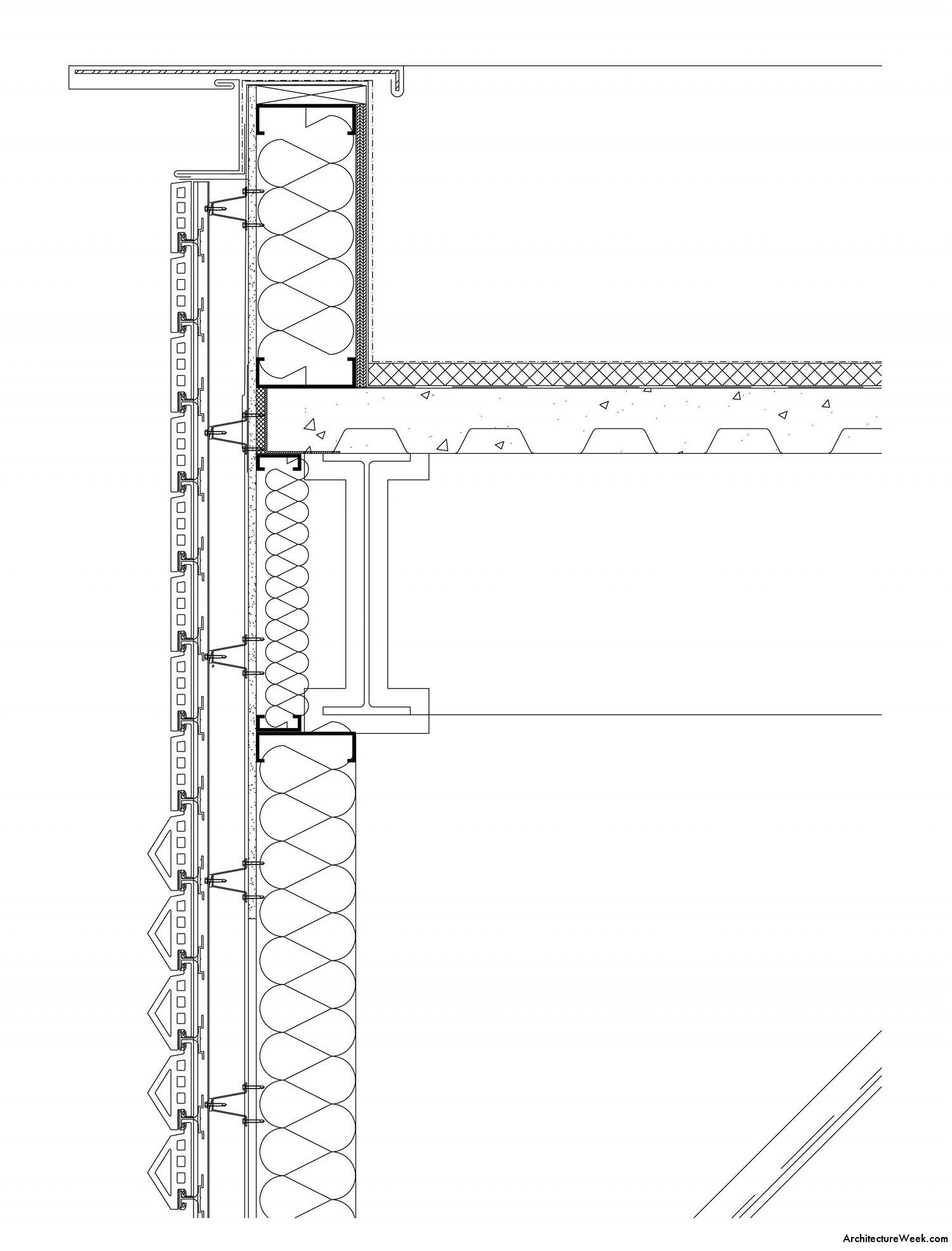 Bechtler Museum Of Modern Art Detail Wall Section Drawing