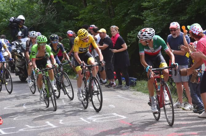 Chris Froome Closing Down Fabio Aru On Stage 9 Of The Tour De France