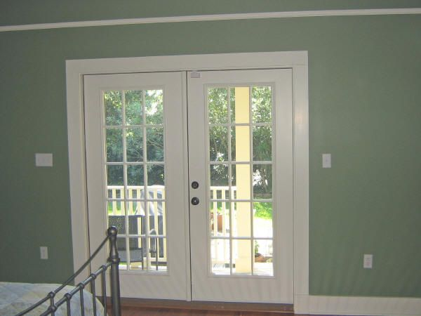 pella french doors use a multipoint locking system that engages at the top middle and bottom of the door plus a thumb turn lock and exterior key lock