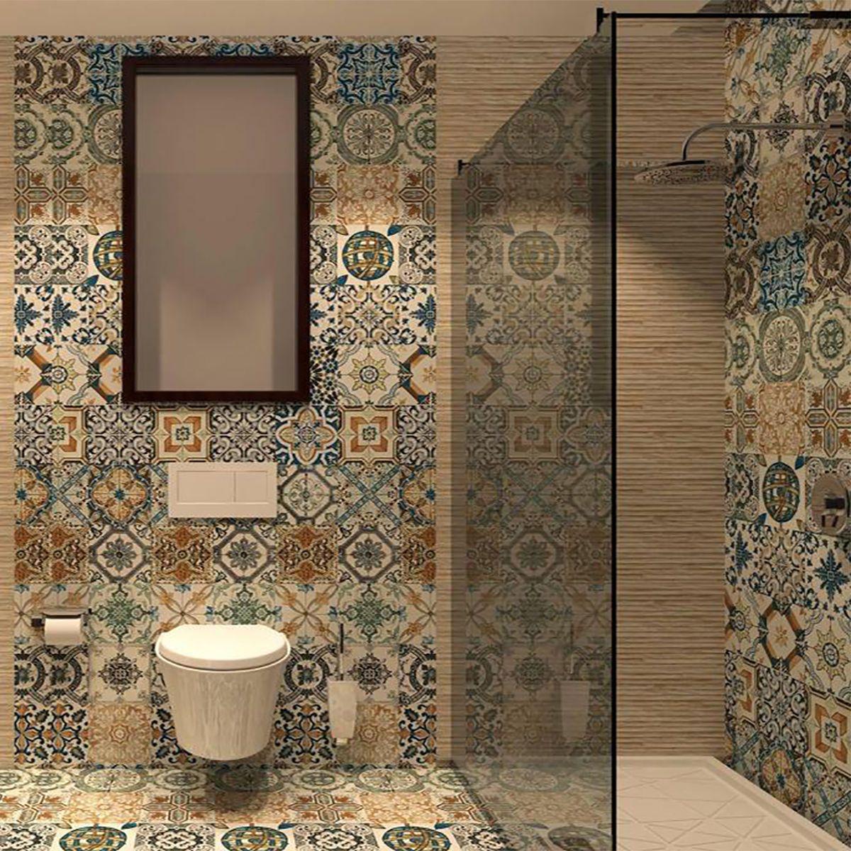 10x10cm Sample Of 20x20cm Nikea Matt Multi Colour Porcelain Wall And Floor Tiles Best Bathroom Flooring Trendy Bathroom Tiles Bathroom Decor