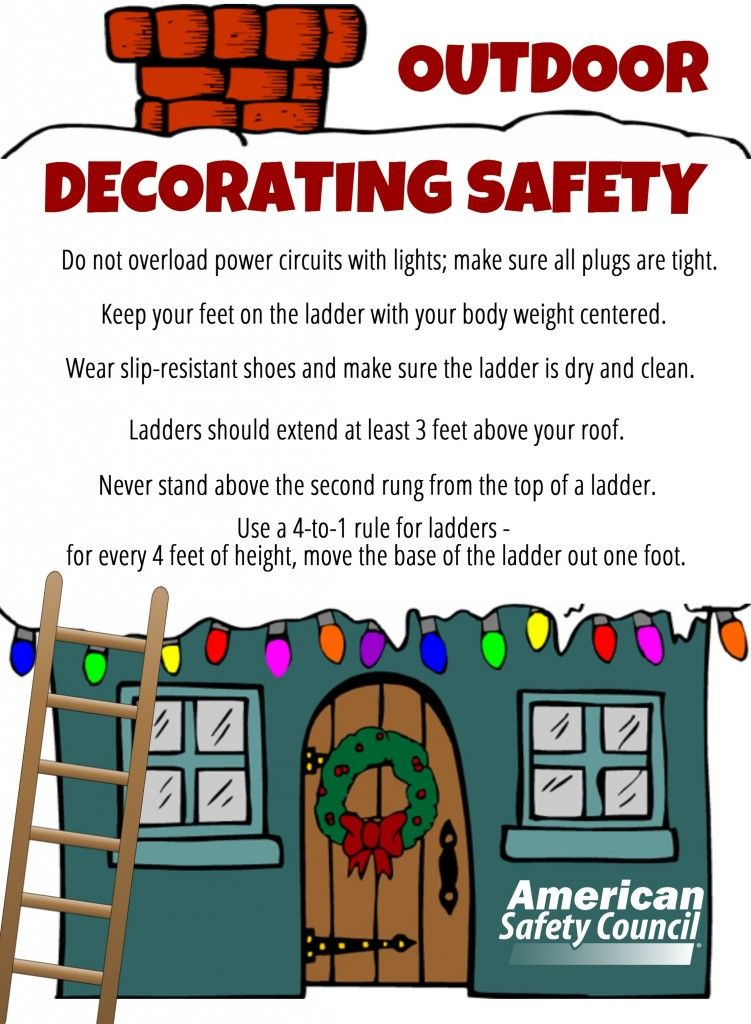 Outdoor Holiday Decorating Safety plus, a chance to win
