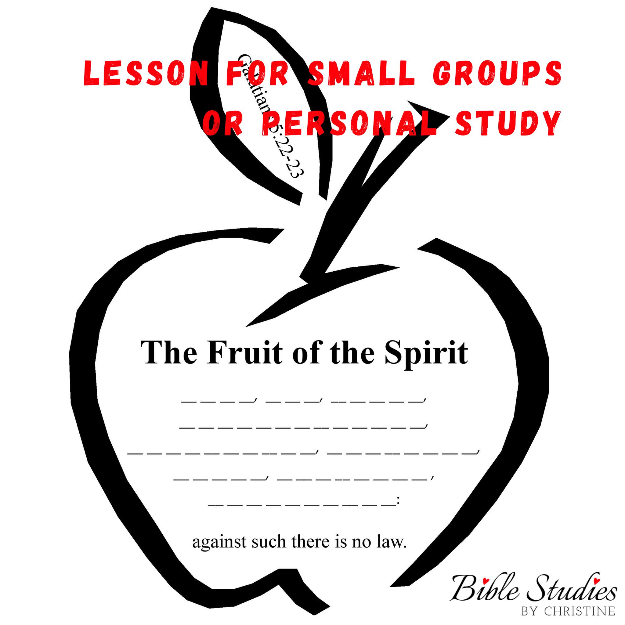 Fruit Of The Spirit Lesson For Kids Amp Teens