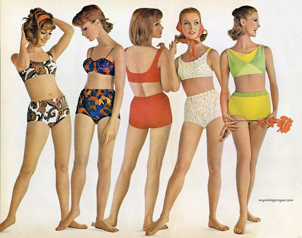 1e9344fda1 Swimsuits by Rose Marie Reid, 1964 | Vintage Finds | Fashion ...