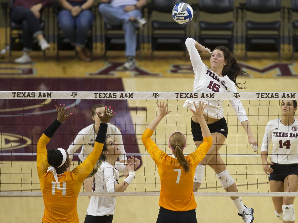 Texas A M Volleyball Picked Fourth Blake Named To Preseason All Sec Team Volleyball Volleyball News Volleyball Team