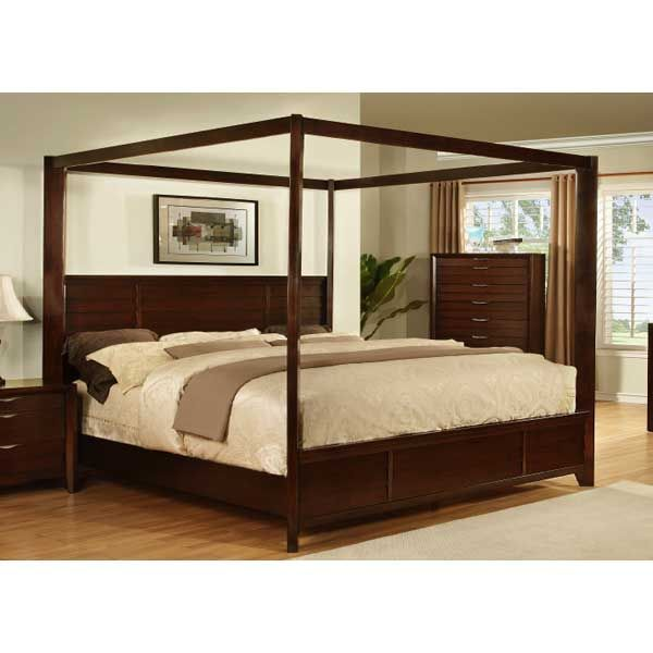 Chelton Queen Poster Canopy Bed American Furniture Warehouse