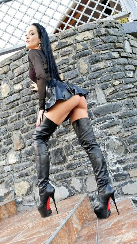 High heel boots xxx with you
