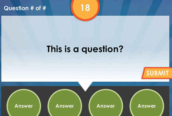 Trivia Game Elearning Template Powerpoint Quiz Template