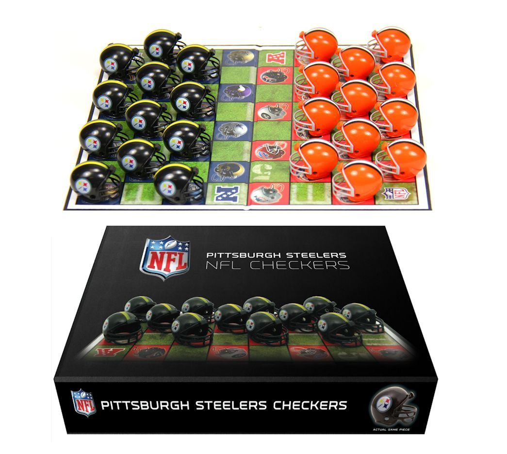 Limited Edition Pittsburgh Steelers Checkers Set