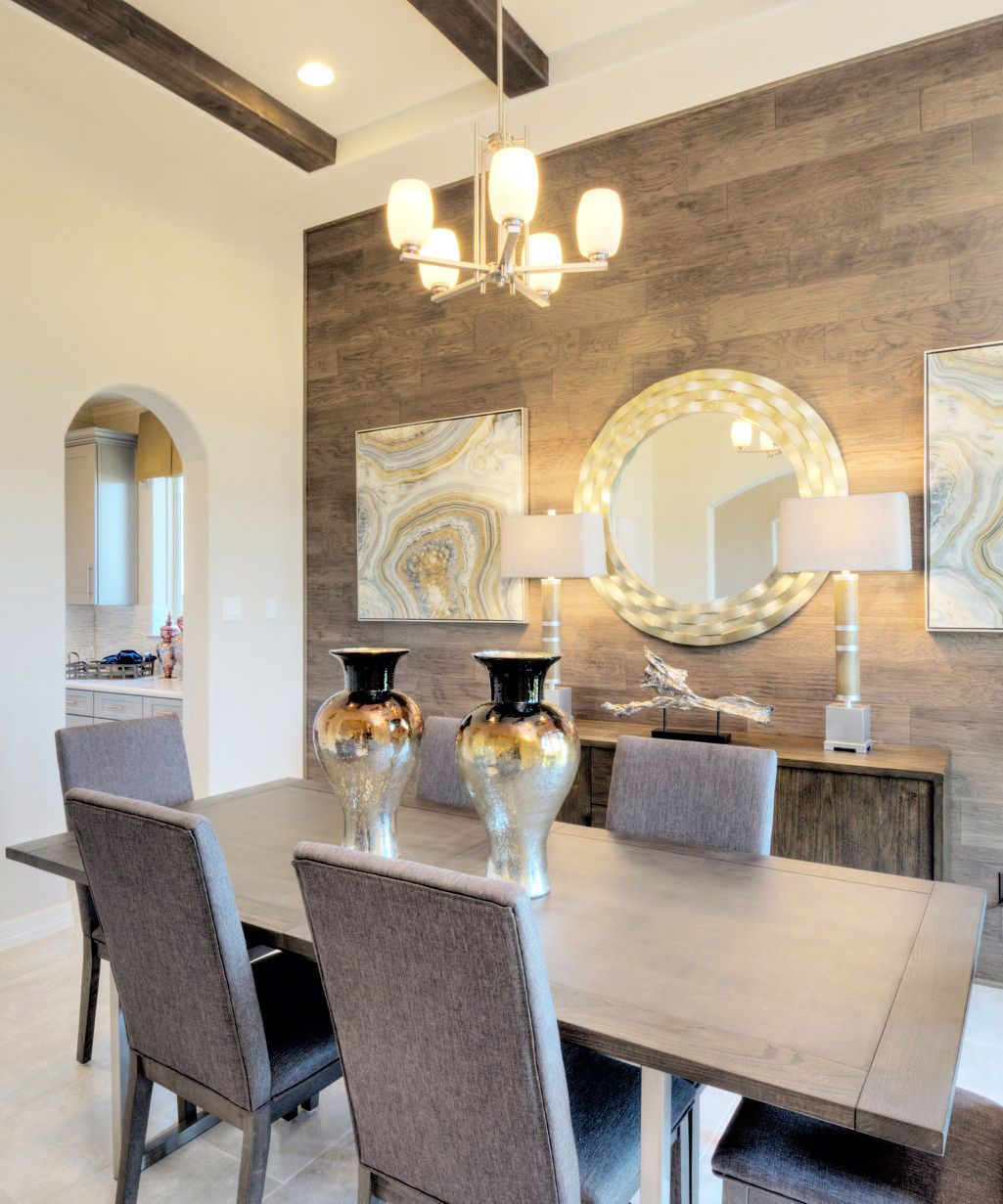 Wood Accent Wall In Dining Room Dining Room Feature Wall Dining