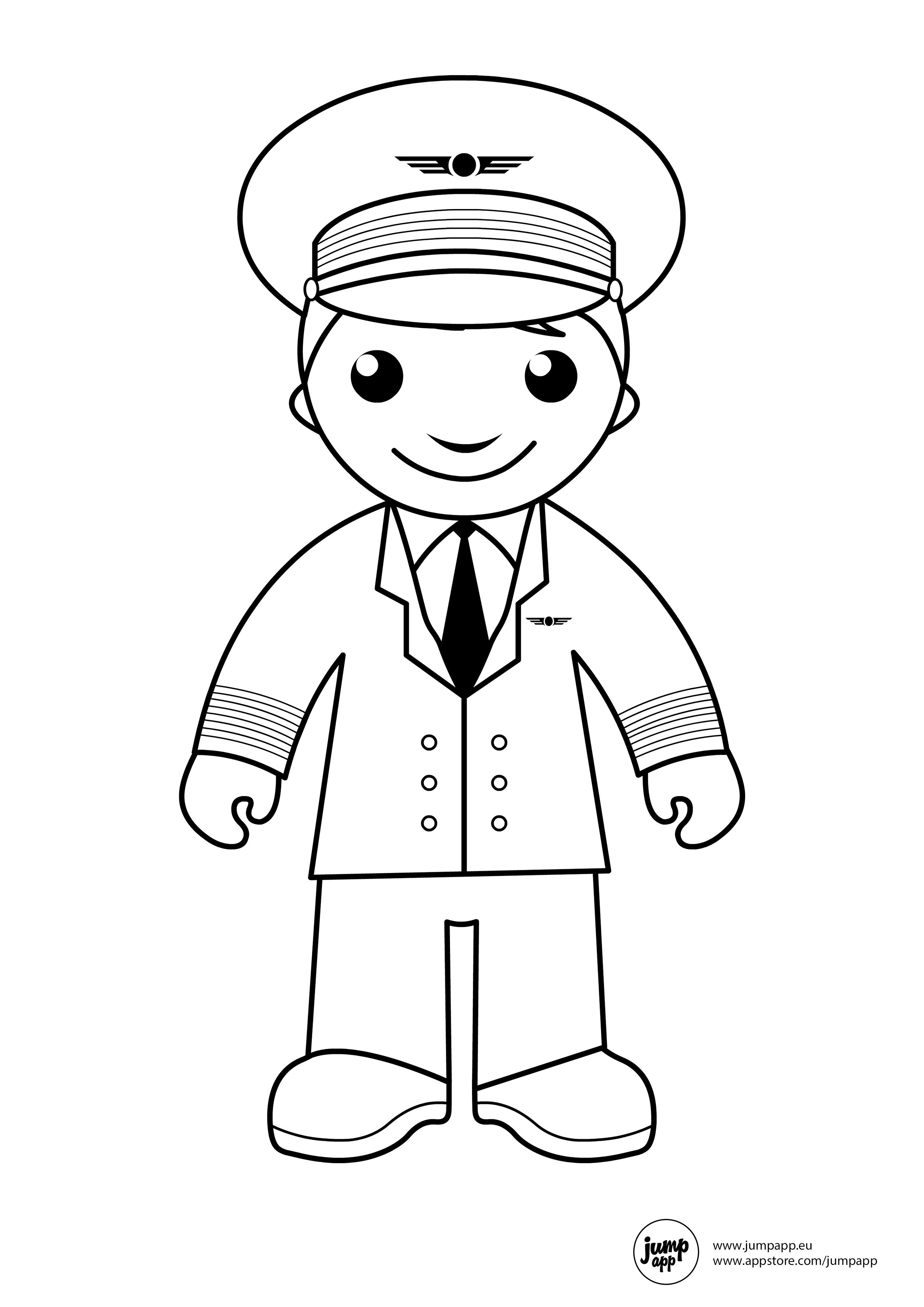 pilot coloring pages - photo#5