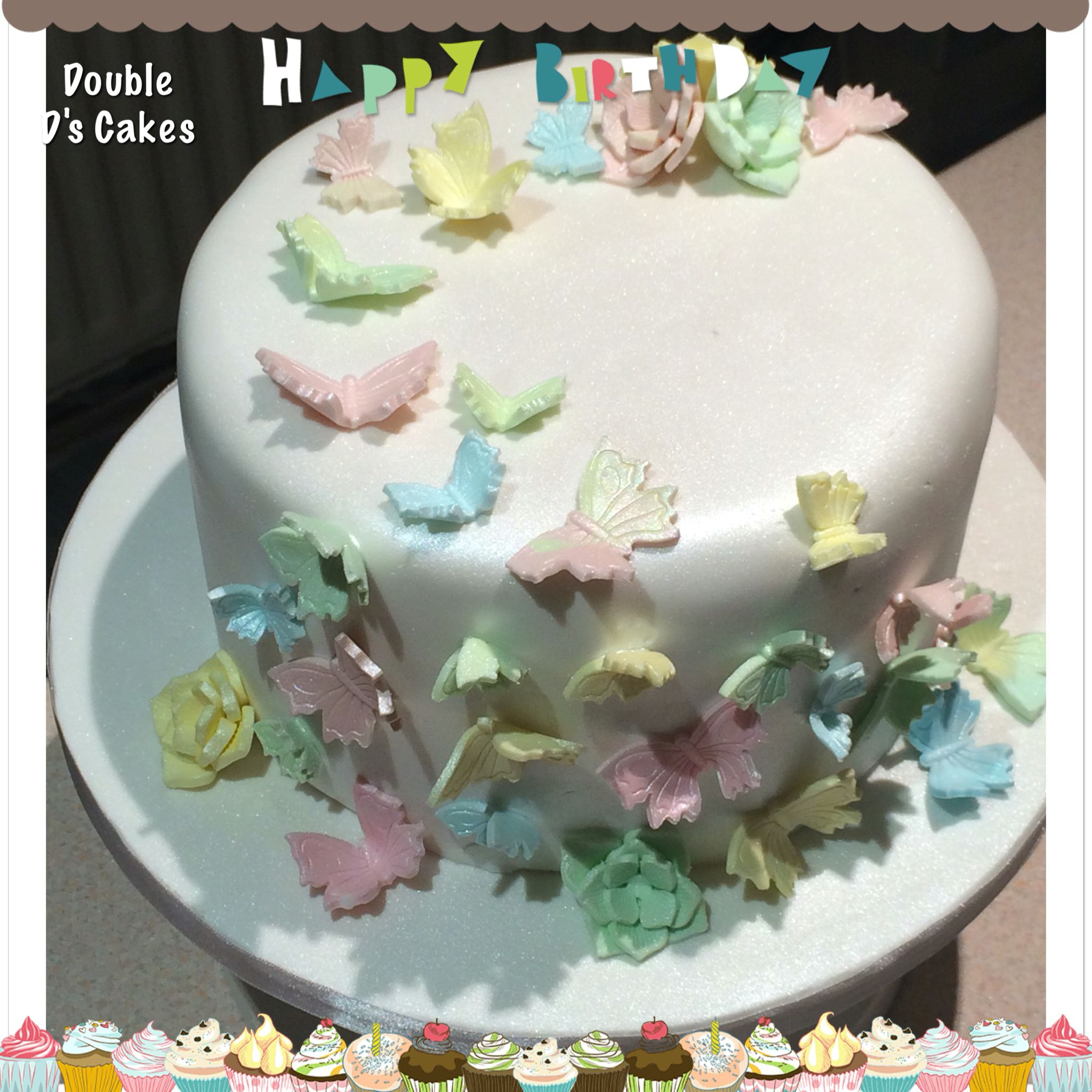 Butterfly themed caked based loosely around a trip to sri