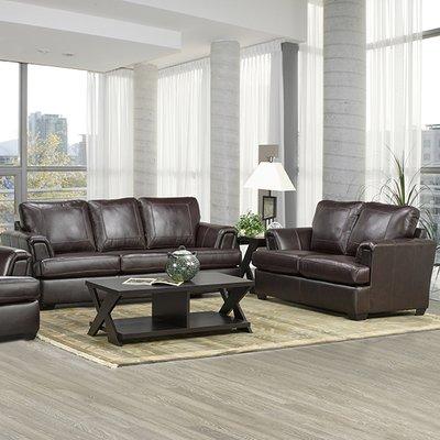 Loon Peak Verano Leather 2 Piece Living Room Set Sofa