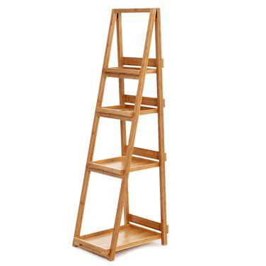 Natural Bamboo Ladder Shelf