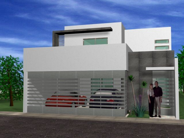 23 Fachadas minimalistas de casas pequenas