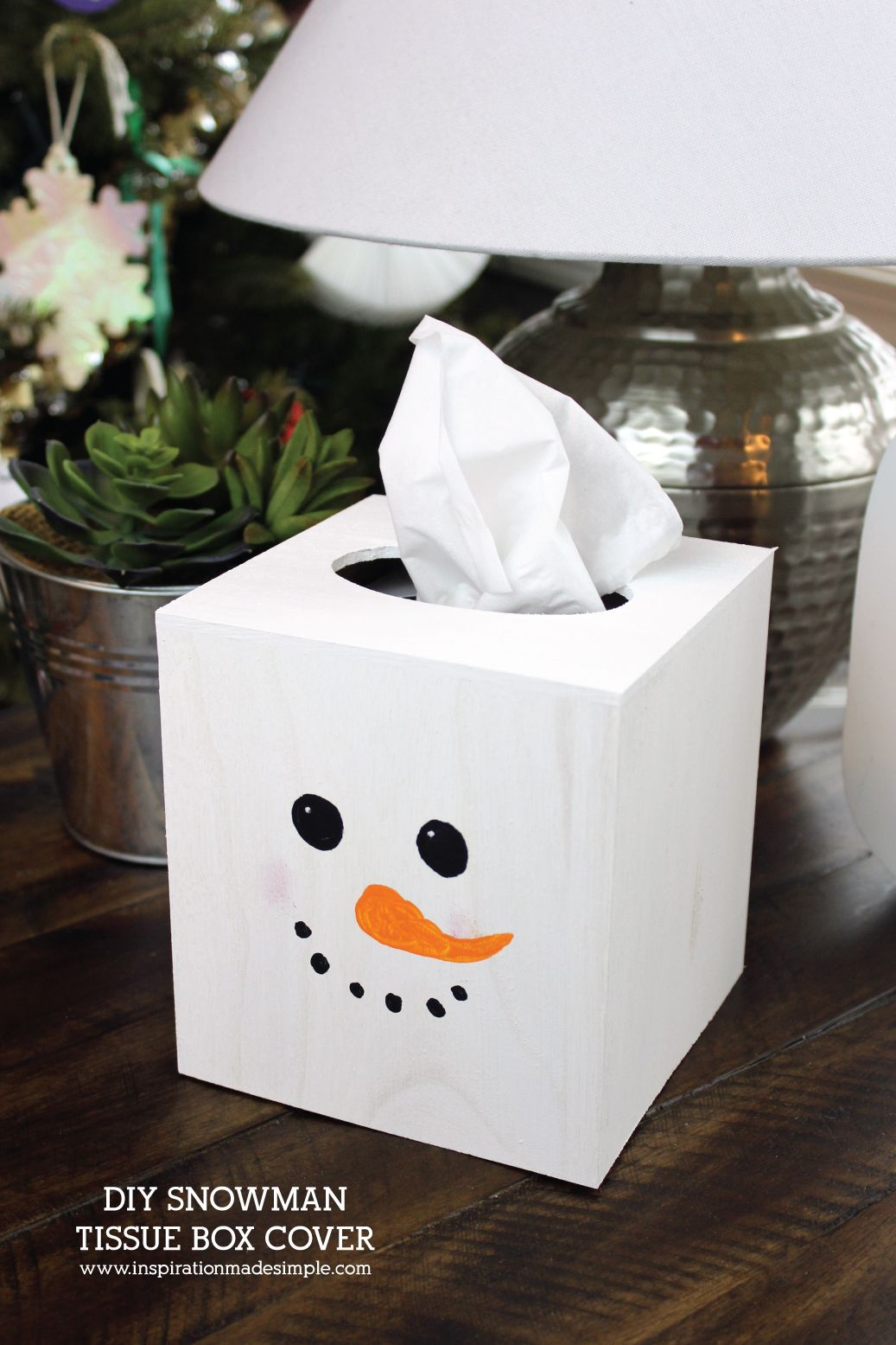 Snowman Tissue Box Cover Kids Craft Inspiration Made Simple Snowman Crafts Diy Tissue Box Crafts Winter Diy Crafts