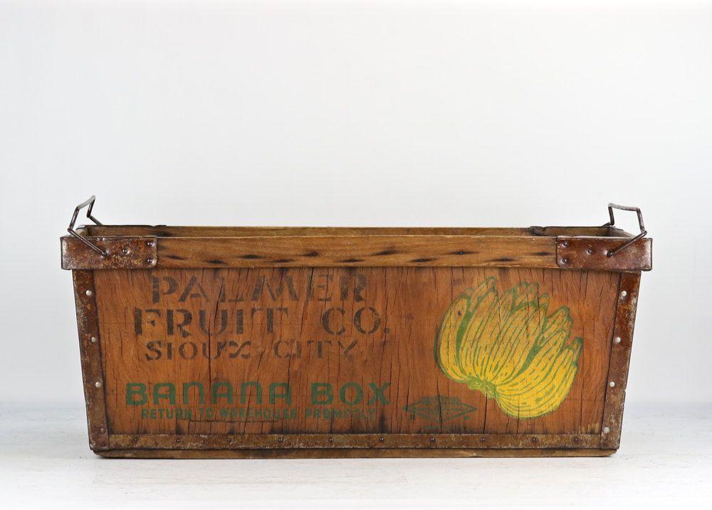 banana box banana crate vintage banana box vintage banana etsy crates wood crates wooden crate pinterest