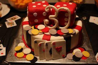 The Buttercream Bakery Vegas Themed 30th Birthday Cake