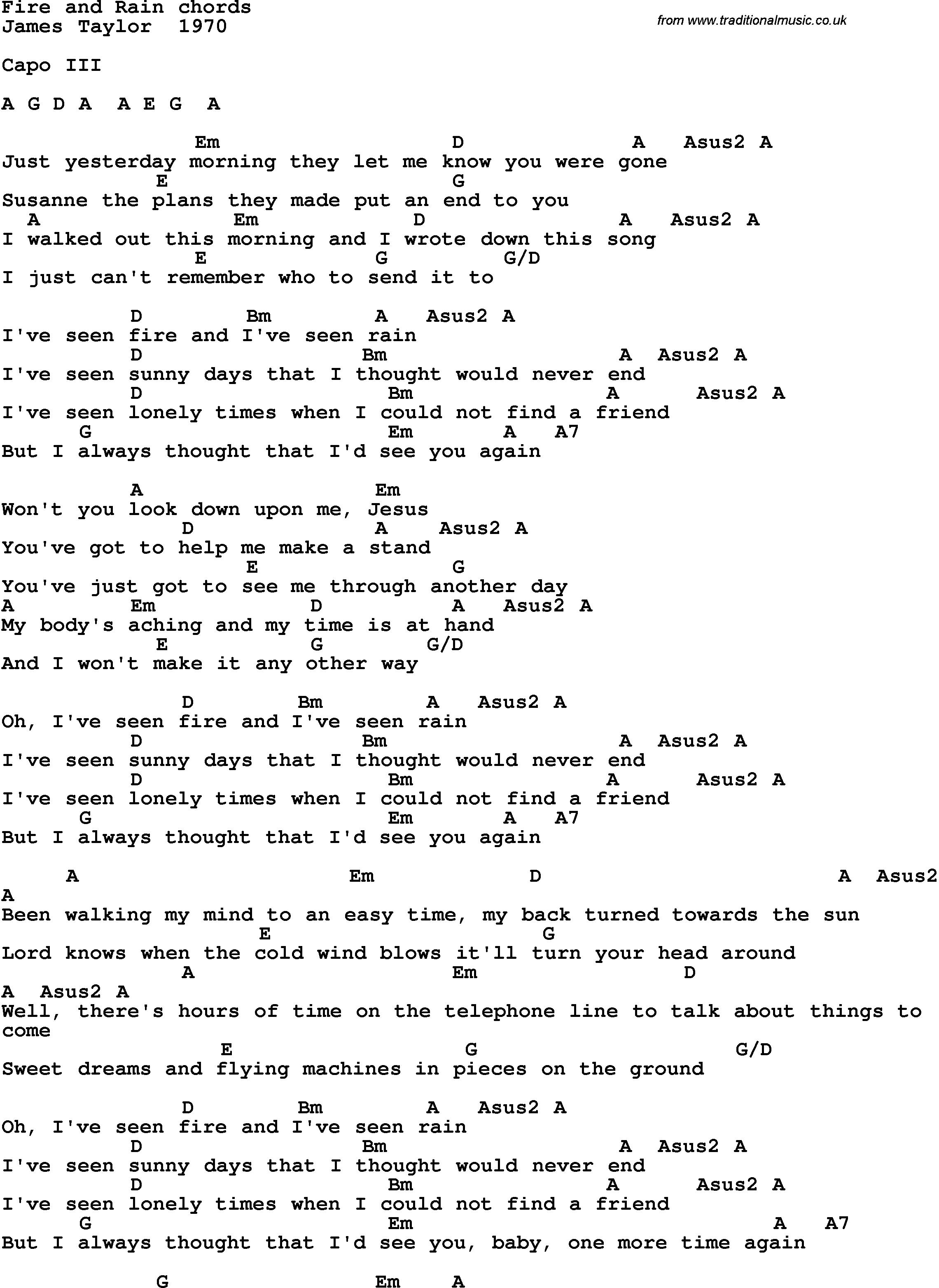 Аккорды и текст песни под гитару