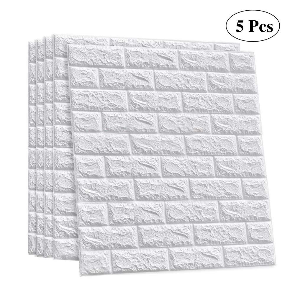3d Brick Wall Sticker Self Adhesive Wall Tiles Peel To Stick Wall Decorative Panels For Living Room Bedroom White Color 3d Wallpaper Walmart Com Faux Brick Faux Brick Wall Panels Faux