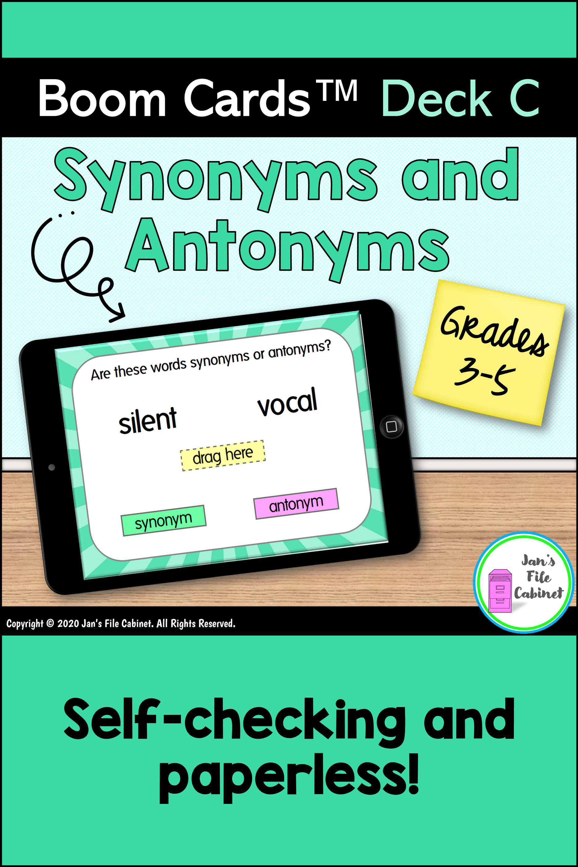 Synonyms And Antonyms Deck C Boom Cards Distance Learning Synonyms And Antonyms Vocabulary Strategies Vocabulary Development