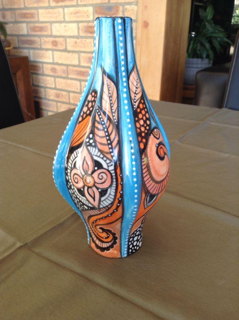 Funky Vase By Lisa Bs Art Studio Lisa Bs Ceramics Pinterest