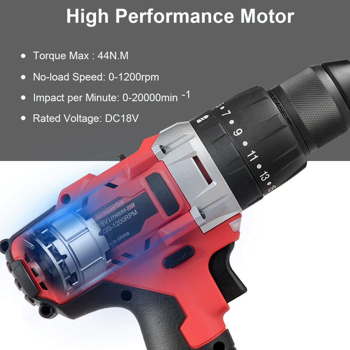 18v Cordless Drill Driver Impact Tool Kit With Led Light Cordless Drill 18v Cordless Drill Drill Driver