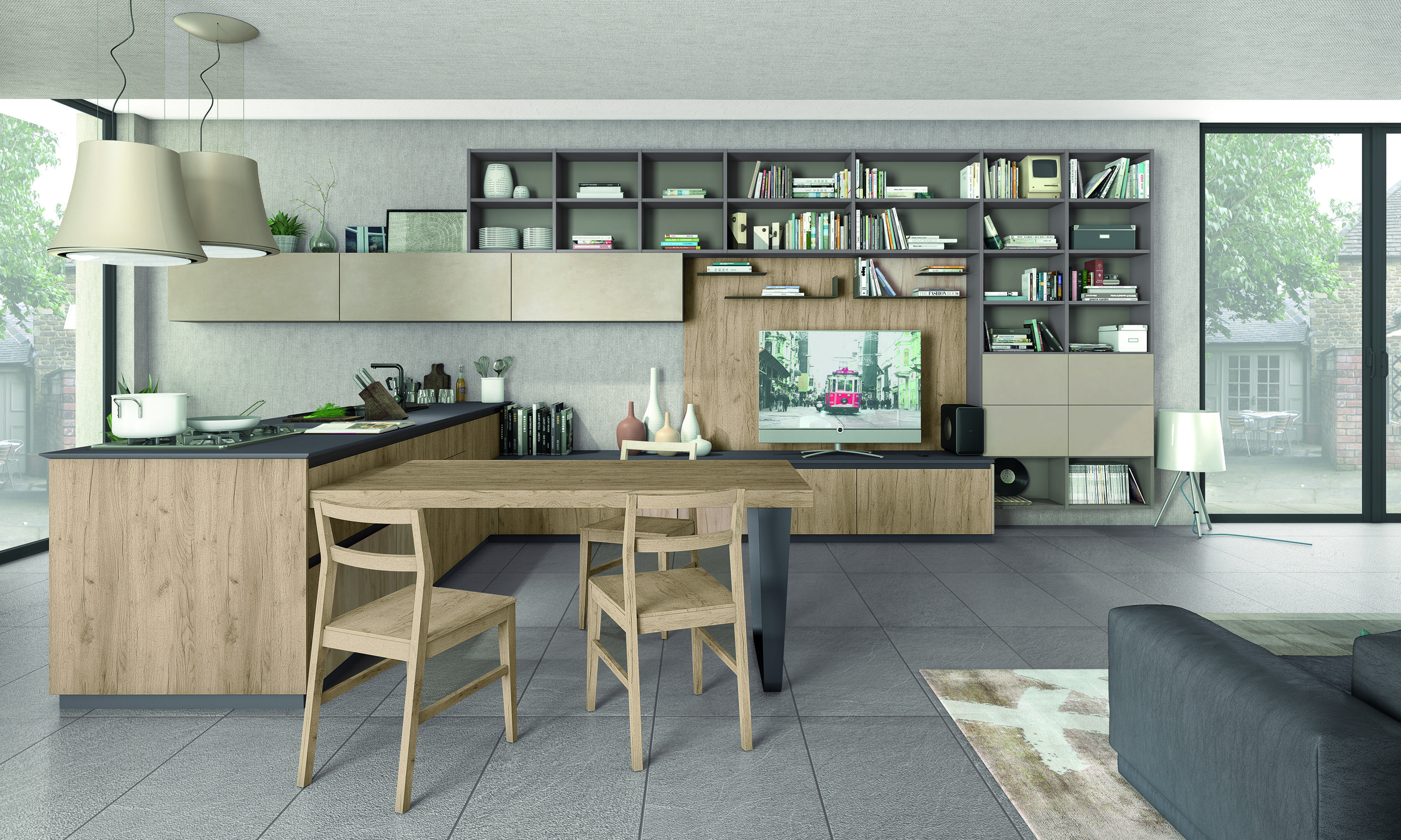 Cucine Living. Perfect Cucine Lube Linda With Island With Cucine ...