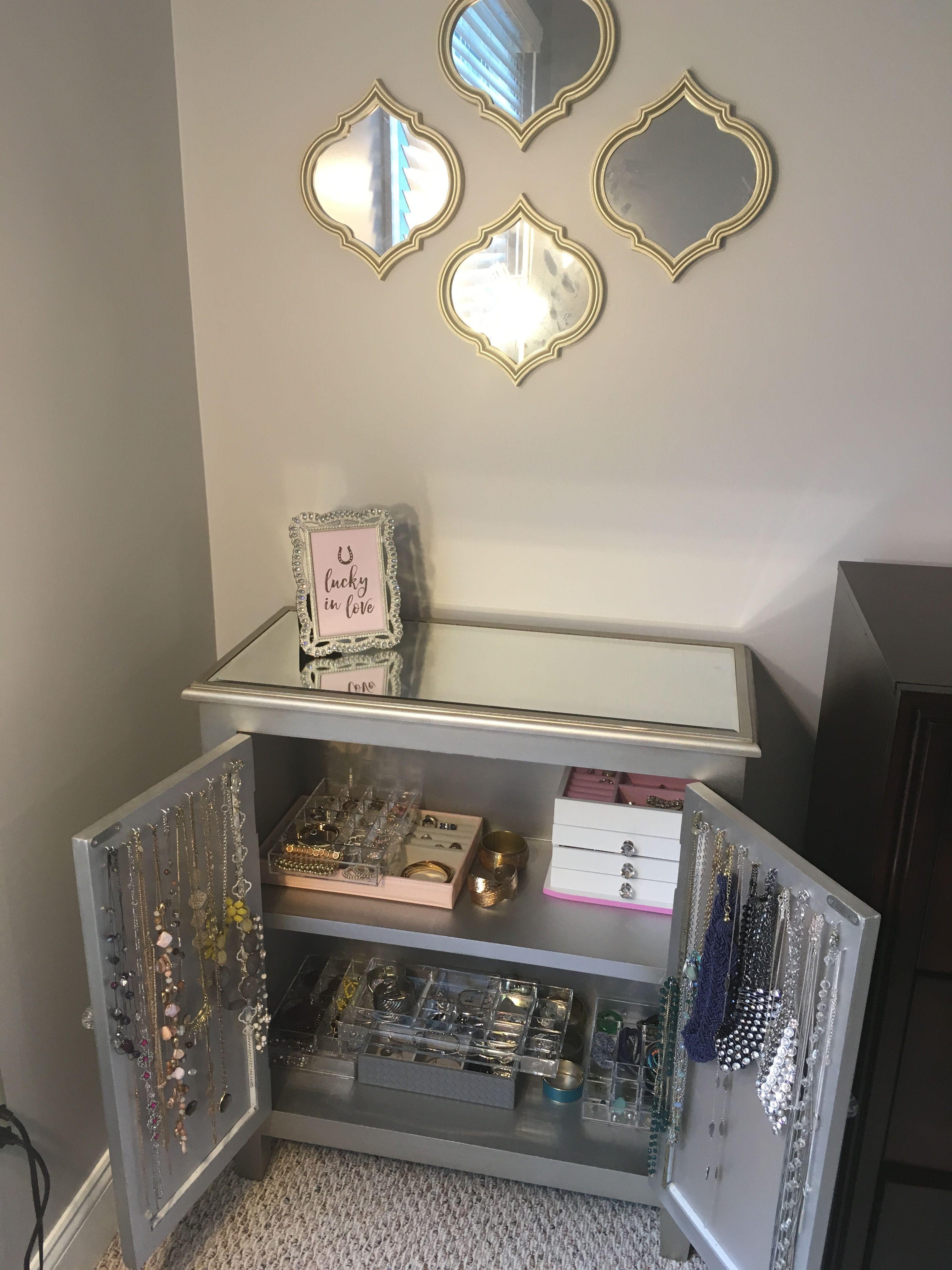 DIY Jewelry Armoire Organization | Jewelry armoire diy