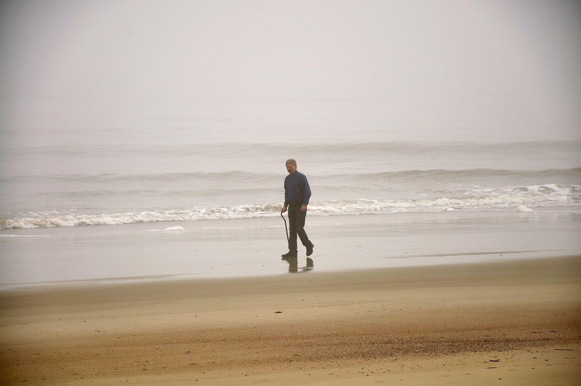 Ricky...a walk along the beach at Savannah