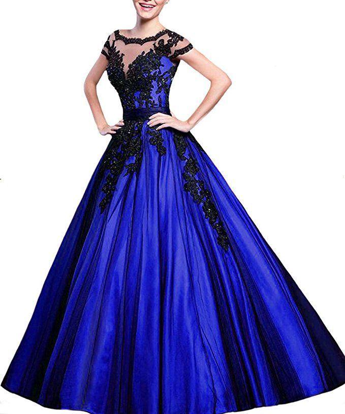 Prinzessin Ballkleid in blau - schwarz. Das elegante ...