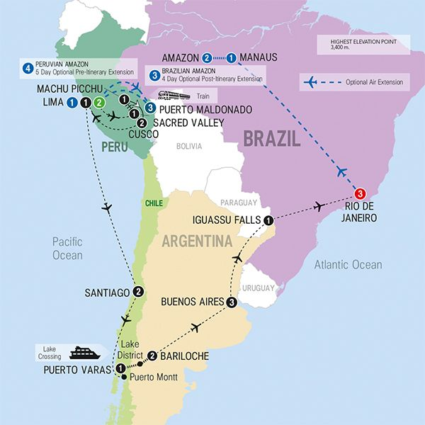South America Travel Map Travel Inspiration Pinterest South