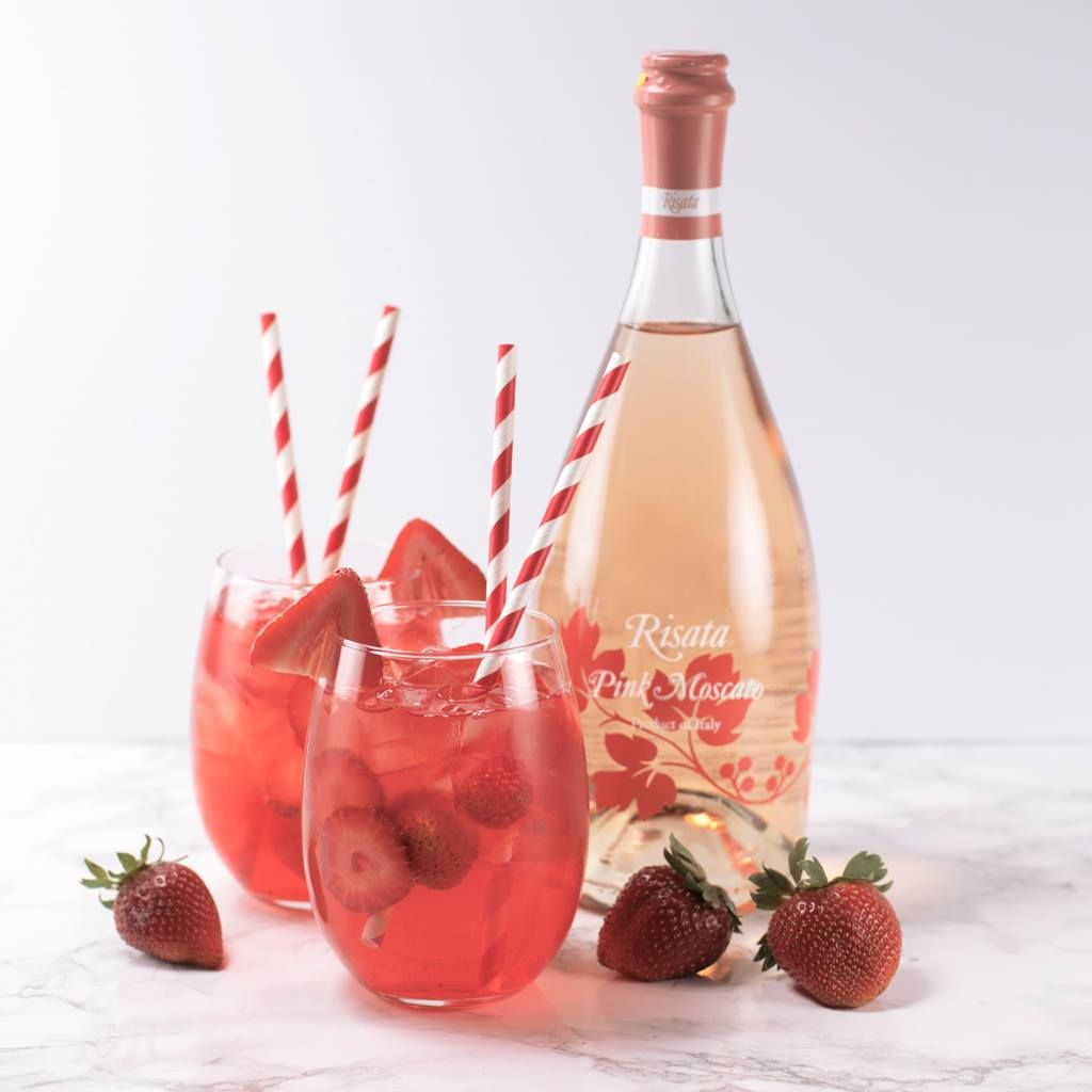 Obviously We Think Risata Pink Moscato Is Perfect As Is But There S Nothing Wrong With Adding A Little Extra Refreshm Wine Drinks Wine Cocktails Wine Safari
