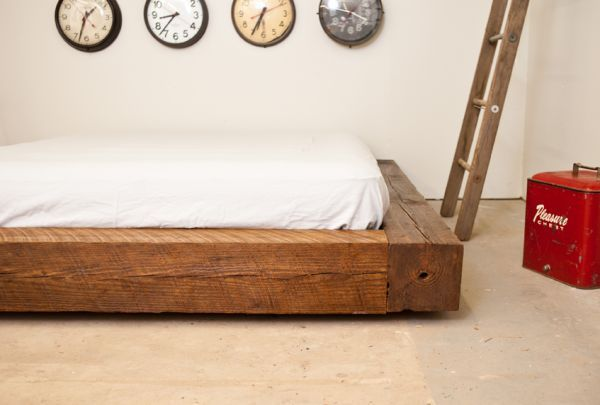 8x8 wood beam bed from philly via craigslist interior reclaimed wood bed frame bed pine. Black Bedroom Furniture Sets. Home Design Ideas