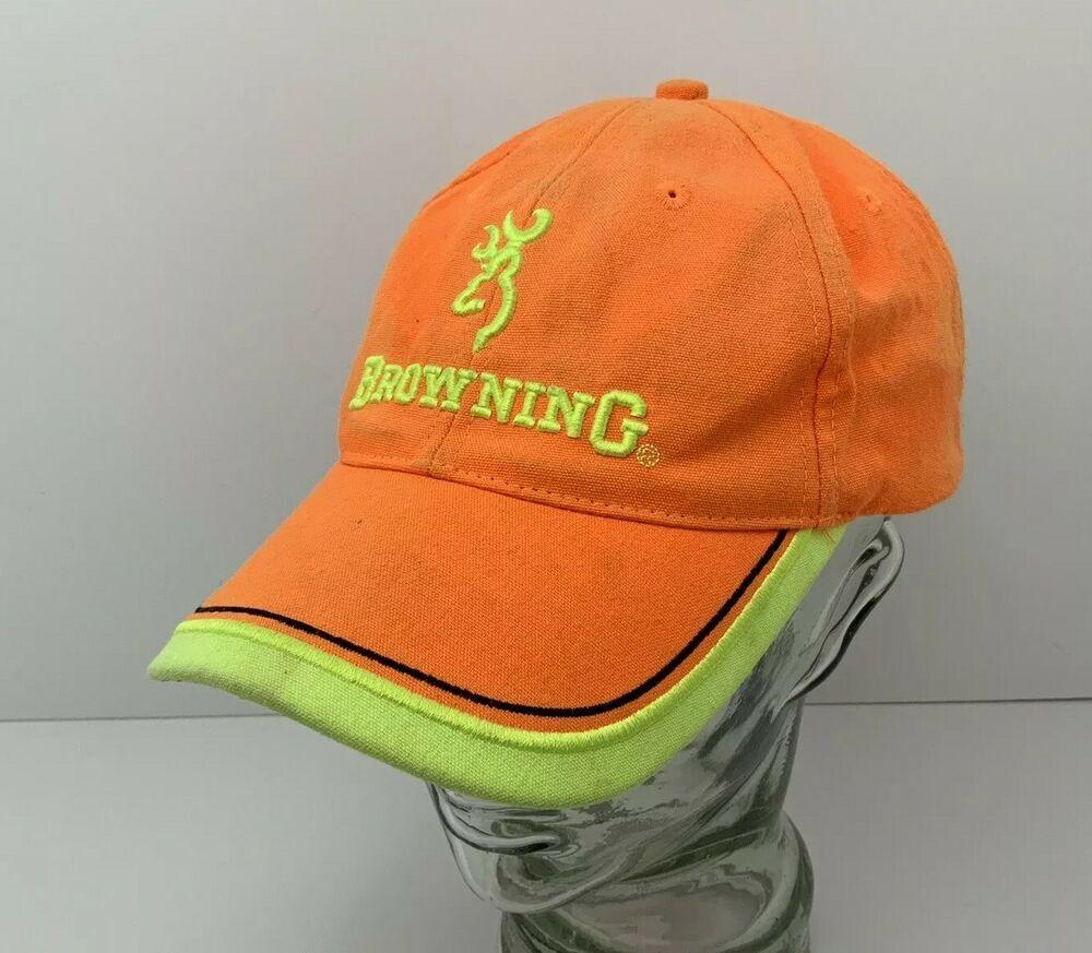 Whitetails Unlimited Hat Baseball Cap Blaze Orange Adjustable Strapback Hunting