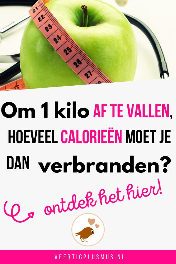 hoeveel calorieen om een kilo af te vallen