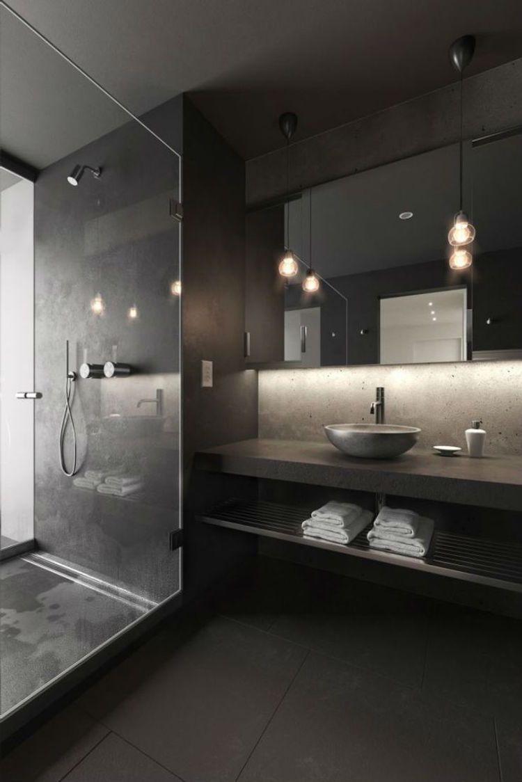 Salle de bain noire - avantages, inconvénients et 20 idées de ...