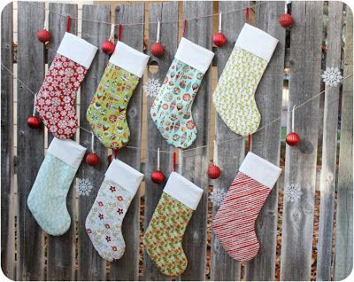Christmas Stockings Tutorial & Free Pattern from So Sew Easy ...