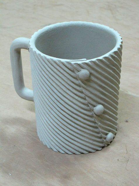 Textured slab mug i love making this type of mug so for Clay mug ideas