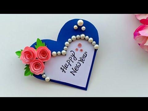 (180) Beautiful Handmade Happy New Year 2020 Card Idea