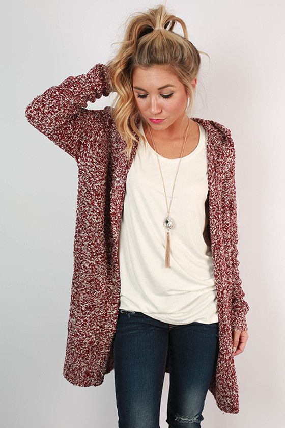 Pumpkin Spice Cuddles Cardigan in Cabernet | Latte, Clothes and ...