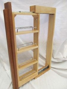 "pull out spice cupboard | Kitchen Wall Cabinet Pull Out 3"" Filler Organizer Spice Rack 