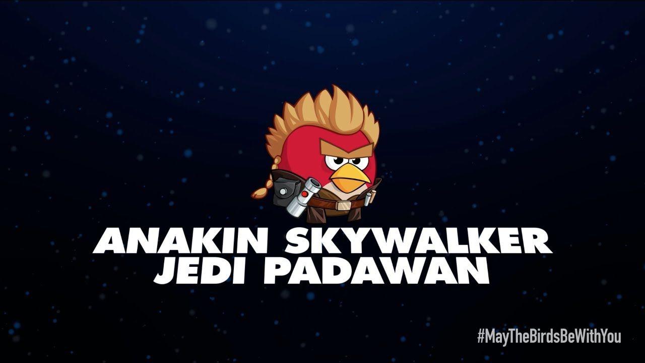 Angry Birds Star Wars 2 Character Reveals Anakin Skywalker Jedi
