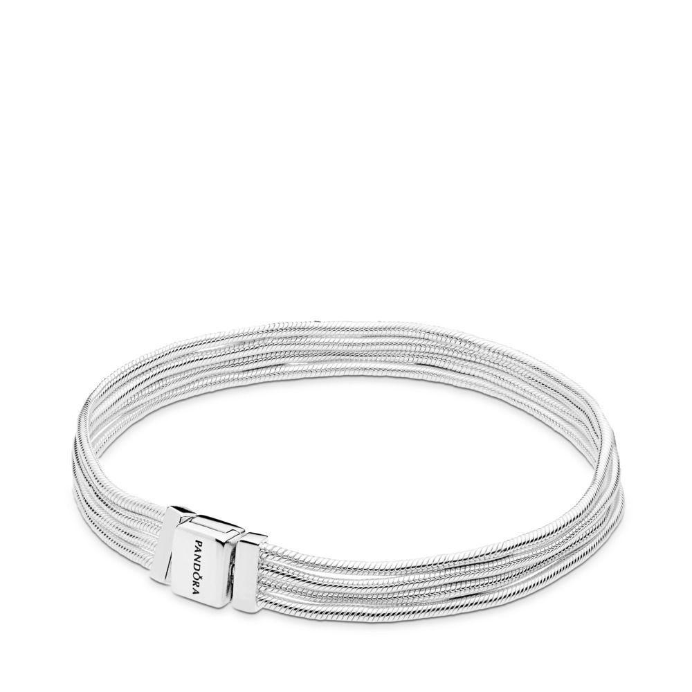 clip bracelet pandora argent