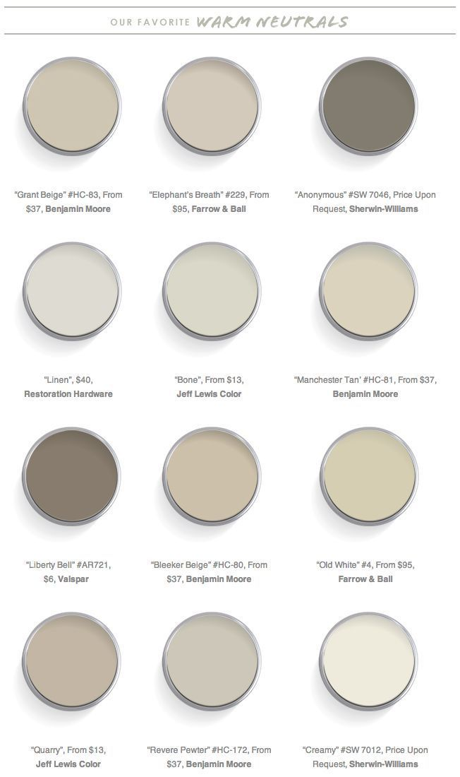 The 12 best warm neutrals for your walls paint colors for Neutral tone paint colors
