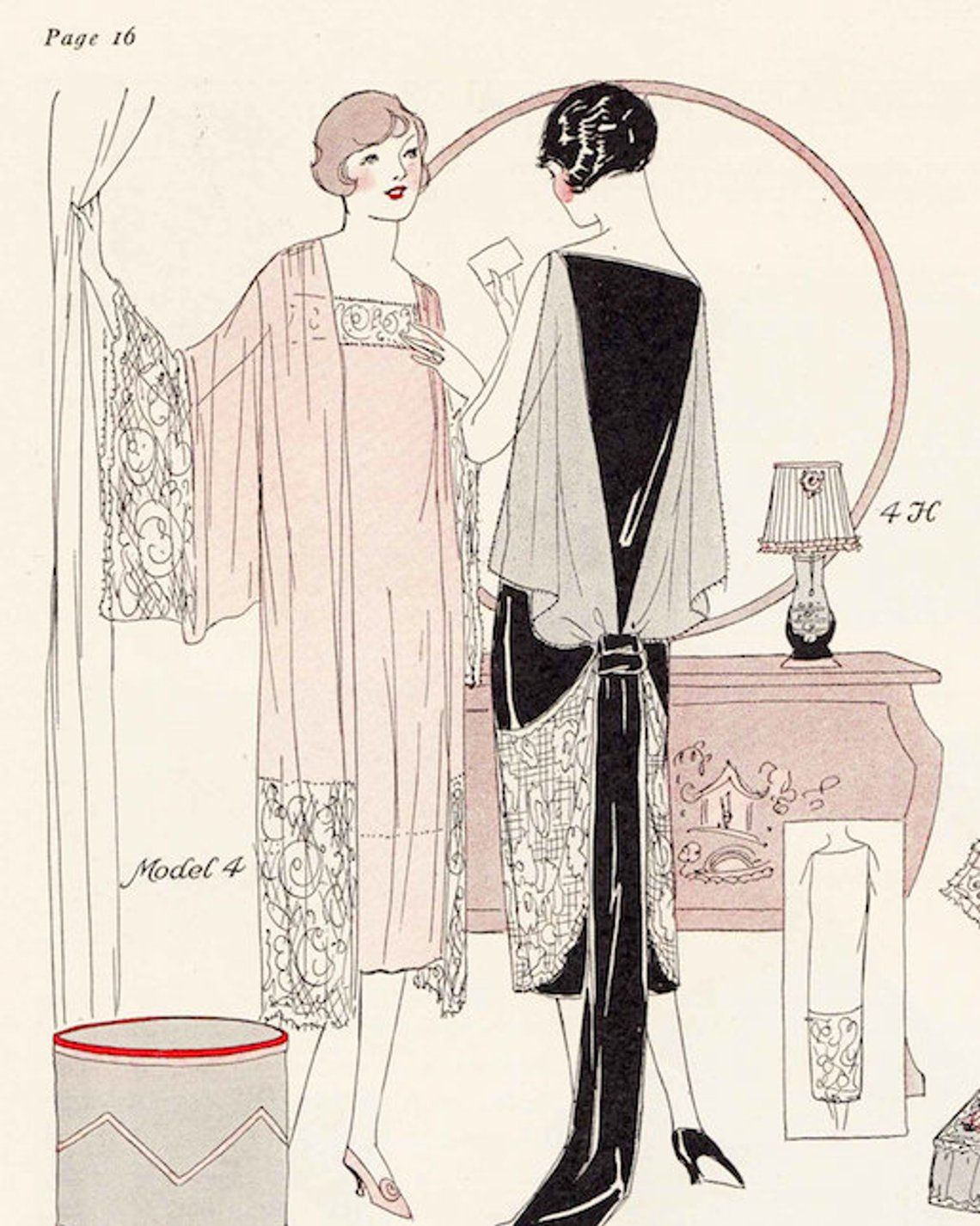 Vintage Sewing Book Winter 1925 - 1926 Fashion Service Magazine Dressmaking Ebook Featuring Hats, Dresses and Lingerie -INSTANT DOWNLOAD-
