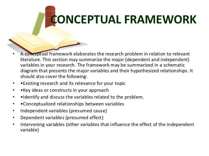 CONCEPTUAL FRAMEWORK• A Conceptual Framework Elaborates The Research