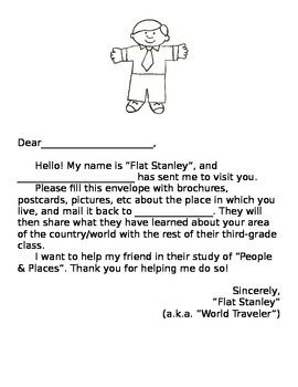 Flat stanley letter for students of all ages teacherspayteachers flat stanley letter for students of all ages teacherspayteachers altavistaventures Choice Image